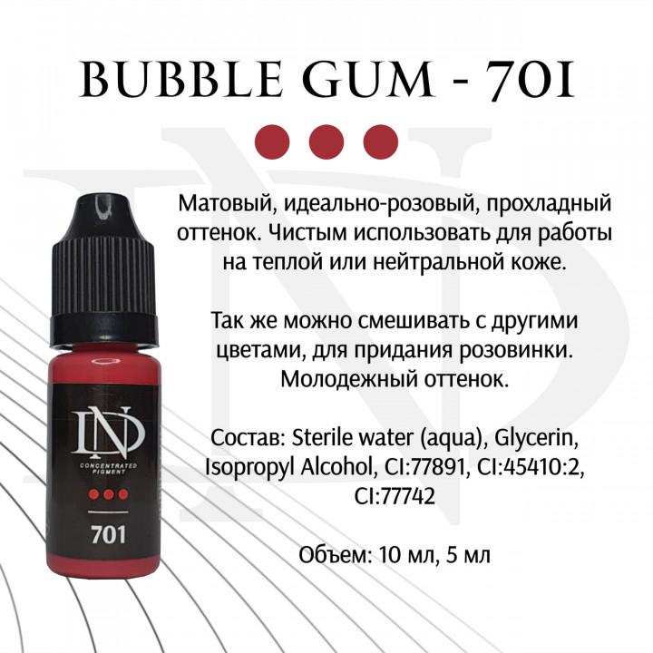 "Пигмент для татуажа ND для губ ""Bubble Gum - 701""(Н. Долгополова)"