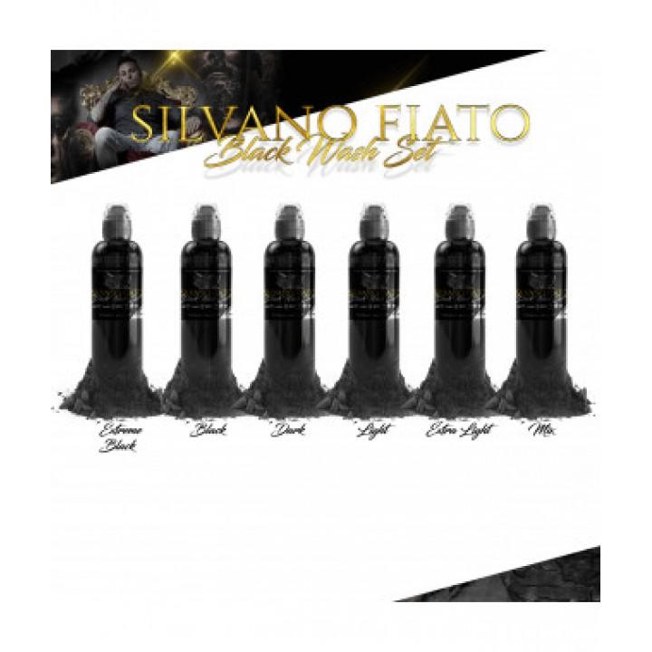 World Famous Ink, Silvano Fiato Black Wash Set 6x120ml